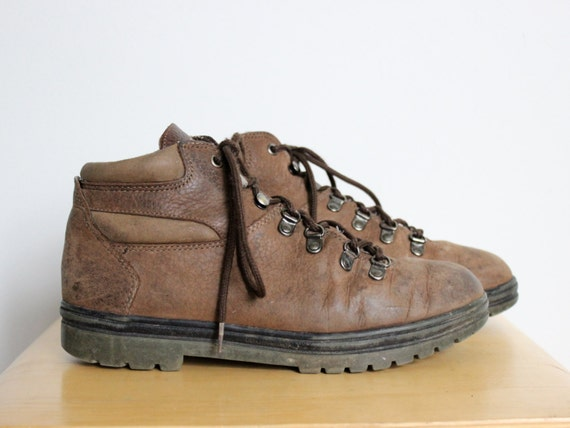 capezio brown leather hiking boots womens us size 8 5 m shoes