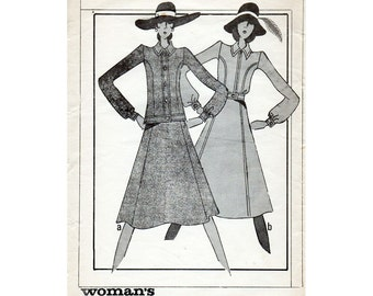 HALF PRICE 1970s Boho Jacket and Skirt Pattern Woman's Realm 334 Vintage Sewing Pattern Bust 36