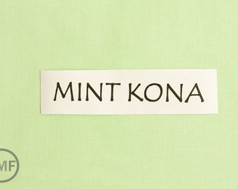 One Yard Mint Kona Cotton Solid Fabric from Robert Kaufman, K001-1234