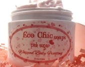 Pink Sugar Whipped Body Frosting - Body Butter - Paraben Free with Cocoa Butter & Shea Butter - Vitamins A, B, C, E - Moisturizer