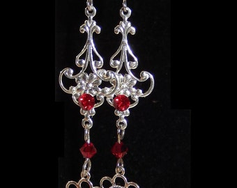 Sale Gothic victorian earrings 3 colours