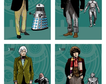 "Doctor Who - The Twelve Doctors - Set of Individual 17 x 11"" Digital Prints"