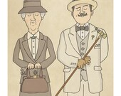Poirot and Marple - Illustration Print