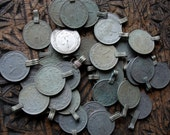 "Very tarnished browny green silver colour real coin  1"" or 2.5 cm  (O)"