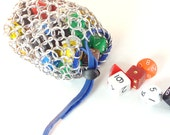 Dice Bag For Dungeons & Dragons Dice Gaming Medium Chainmaille Bag Aluminum - TMDB-A02-R