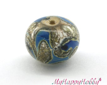Focal lampwork glass bead