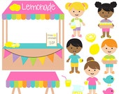 lemonade stand clip art clipart digital - Lemonade Stand Digital Clip Art - BUY 2 GET 2 FREE