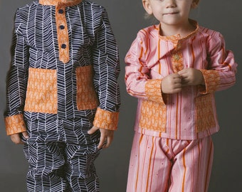 Pocket PJs PDF Sewing Pattern Boys or Girls Toddlers 18m 2T 3T 4T 5 6 7 8
