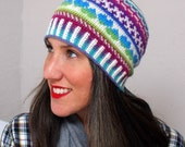 Crochet Pattern -- All Ages Fair Isle Love Beanie -- Crochet Pattern