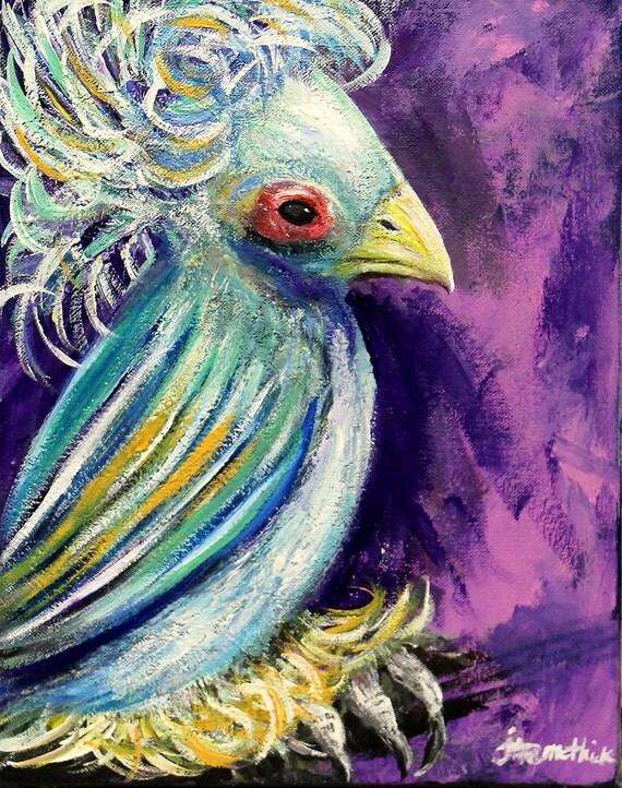 Bird of paradise animal drawing - photo#15