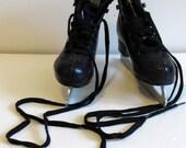 Vintage Black Boys Child Ice Skates - size 13