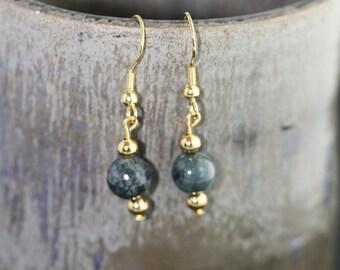 India Agate Earrings - Item 1194