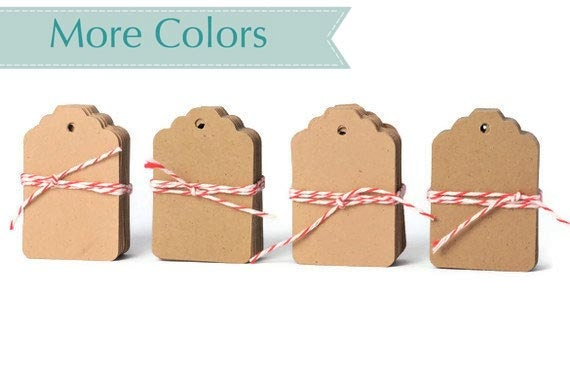 READY TO SHIP | Small blank kraft tags die cuts. Brown paper gift tags gift embellishments