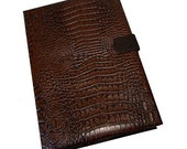 Vegan Leather iPad Air Case Stand 2 3  4 5  Mini Hard Case, iPad Cover, i Pad stand iPad mini Cameral Hole Magnetic Executive faux crocodile