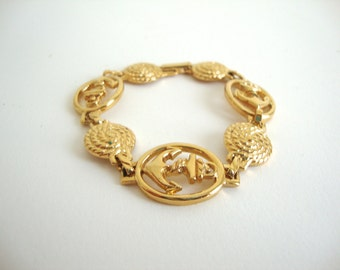 Vintage Anchor Bracelet : Gold Seas vintage gold tone anchor nautical knot bracelet Avon