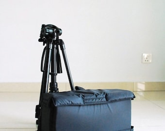 On SALE - 30% - Camera Bag Insert - For Messenger Bag, Backpack , Canvas Bag,  Water Resistant / DSLR Bag / Camera Bag / Padded Bag