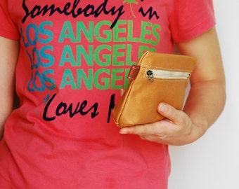 SALE 20% - Piggy Pouch in Wax Khaki Brown - Zipper / Purse / Wallet / clutch / cosmetic bag / iphone case / Glasses / Wpmen