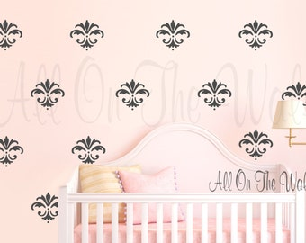 Damask Wall Decal Vinyl Lettering Home Family House Decals Decor Design Bedroom