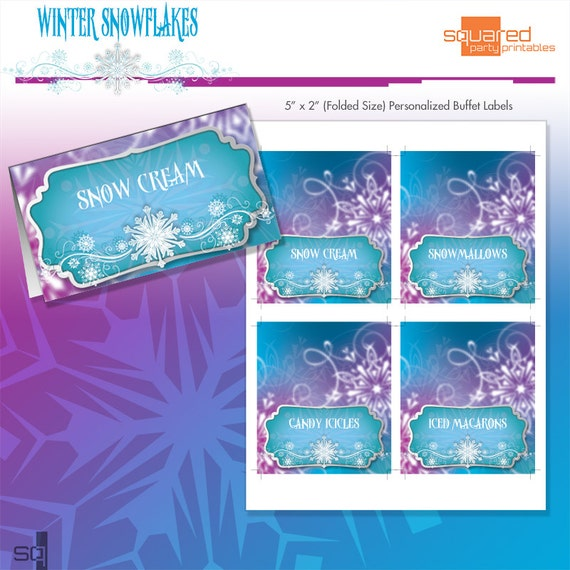 ... Printables - Ice Princess by Squared Party Printables | Catch My Party