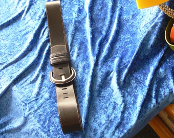 banana republic leather black belt size large