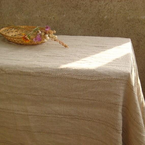 moderne lin ray nappe gris toile de jute lav froiss nappe. Black Bedroom Furniture Sets. Home Design Ideas