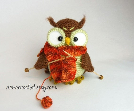 Shalette the owl - amigurumi PDF crochet pattern