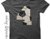 Soccer Number Iron on Transfer - Iron on Custom Soccer Shirt / Toddler Birthday Party / Customized Soccer Mom Shirt / DIY Printable IT456-P