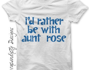 New Aunt Iron on Transfer - Iron on Uncle Shirt / I'd Rather be With Tshirt / Baby Shower Clothes / New Aunt Gift / Cute Baby Clothing -C