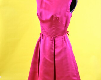 1950s Hot Pink Cocktail Dress