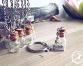 Dandelion Keychain. Make a wish bottle keychain. Dandelion seeds vial wish tibetan silver medal. Whimsical gifts dreamy wedding communion