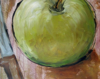 Apple Original Painting that will add Pop to your Kitchen Decor