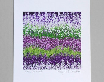 Lavender Fields Giclee Print of Oil Painting