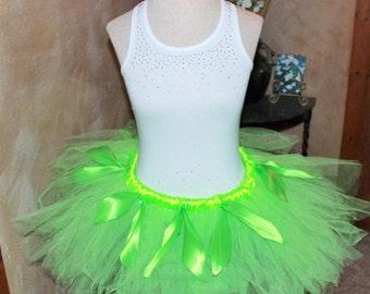 Tinker bell Fairy Inspired Disney Movie Peter Pan Princess Design Adult Childs Running Marathon Tutu Skirt Birthday Party Costume Skirt