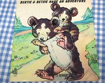 bertie and betsie have an adventure, vintage 1970s children's book