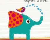 Premade Banner Set - Elephant and Bird - 6 Piece Set