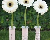 Pink Vase Shabby Chic Hand painted Distressed Vintage Bud Vase