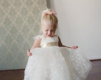 Ivory Polka Dot Dress