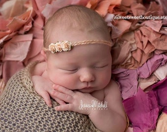 Simple Newborn Headband Halo Headband Tie Back Headband Baby Halo Newborn Photo Prop