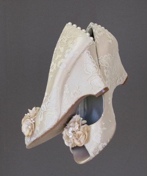 wedding shoes wedding wedges ivory wedding shoes ivory lace