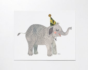 8x10 Baby Elephant - art print / Limited Edition
