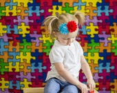 Autism awareness - autism headband - puzzle headband - toddler headband