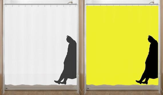 Leaning Batman Shower Curtain bathroom decor bath kids New Yellow Color Now Available