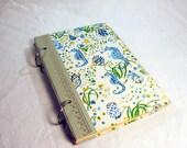 Seahorse Repurposed vintage book journal sketchpad