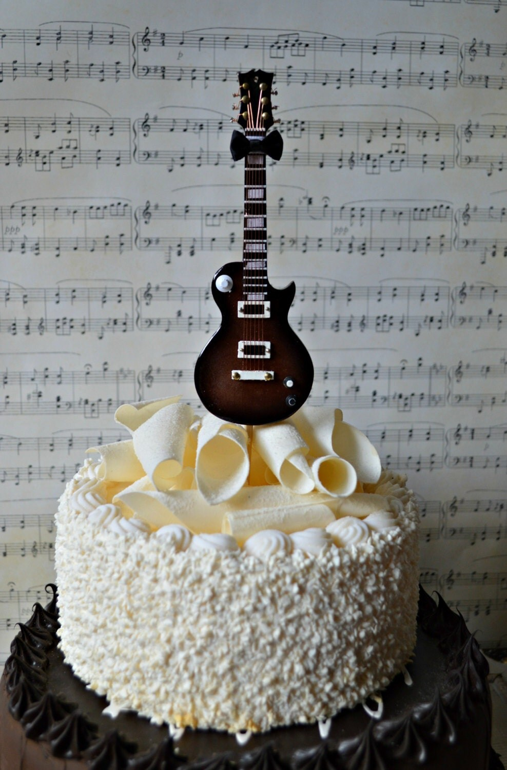 Happy Birthday Cake Guitar With Name