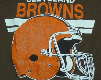 Vintage 80s Cleveland Browns AFC NFL Football Team T-Shirt