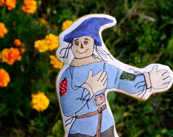 Wizard of Oz Cloth Dolls. The Scarecrow. Hand-painted embroidered cloth doll by alyparrott on Etsy.