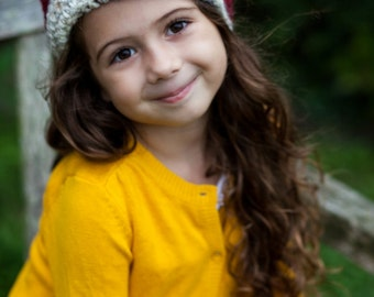 Childrens Hat, Flapper Hat, Crochet Cloche, Kids Fashion, Fall Fashion