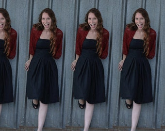 Bridesmaid Shrugs/ Shawls, Set Of 6 Burgundy Lace 4 Options Shawls. Bridal Party Shawls, Gifts For Bridesmaids, Burgundy  15% off (CL109)