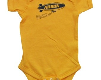 Akron Blimp - Gold Yellow Baby One-Piece