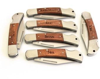 Engraved Pocket Knife, Personalized Groomsmen gift, Christmas gift, Engraved Groomsman Gift, Custom Hunting Knife, Best Man Gift